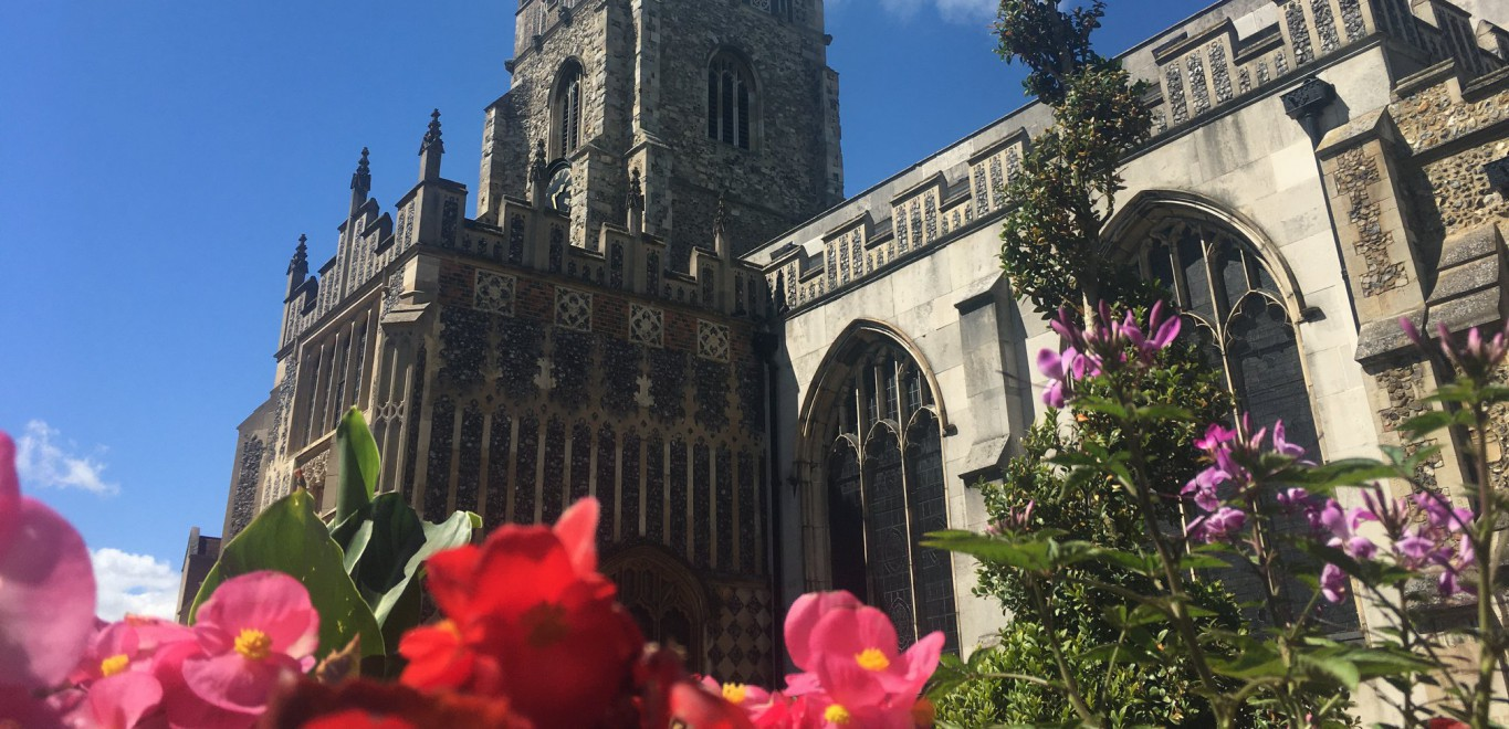 Flowers by the Cathedral