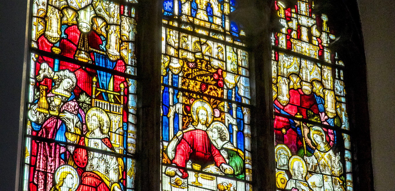 Stained glass Windows in the Cathedral