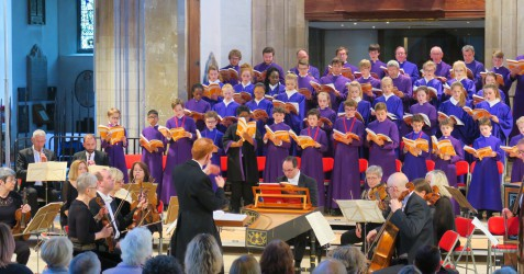 The choir at an event