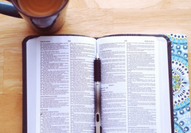 Bible and a coffee