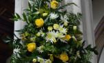 Flowers on a Pillar