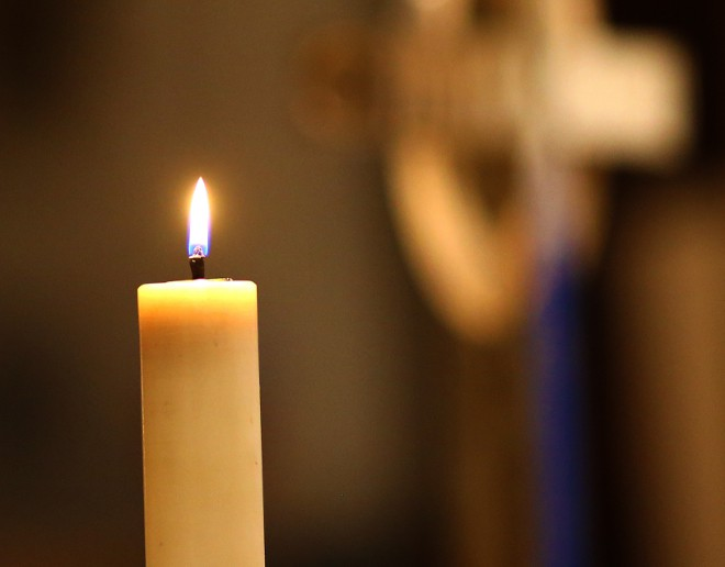 A candle in the Cathedral