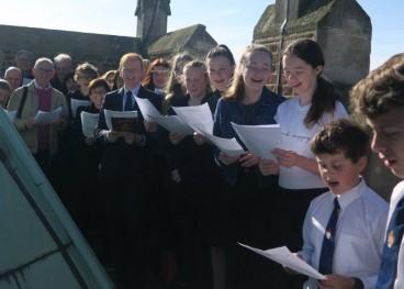 The choir on the roof.