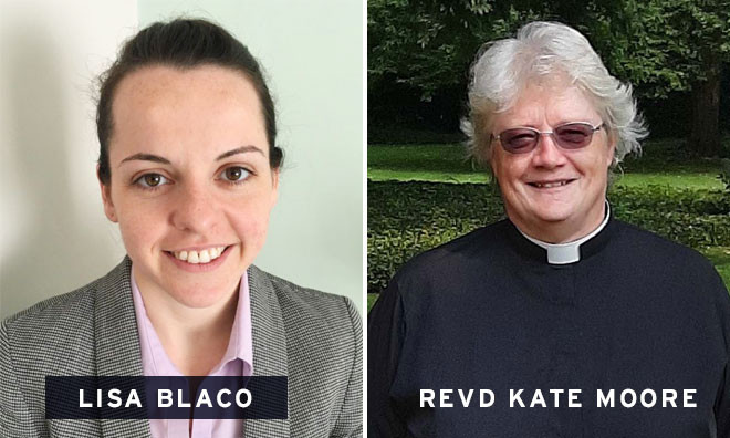 Safeguarding officer Lisa Blaco on the left and Assistant Safeguarding Officer Revd Kate Moore on the right