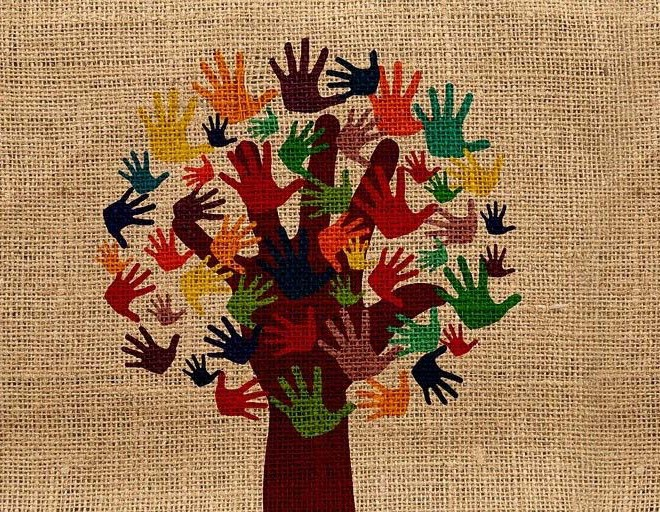 Tree made of hands